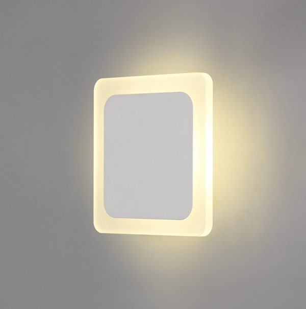 Lichfield Lighting Maxwell Magnetic Base Wall Lamp, 12W LED 3000K 498lm, 15/19cm Square Centre, Sand White/Acrylic Frosted Diffuser photo 3