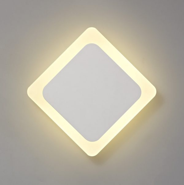 Lichfield Lighting Maxwell Magnetic Base Wall Lamp, 12W LED 3000K 498lm, 15/19cm Diamond Centre, Sand White/Acrylic Frosted Diffuser photo 1