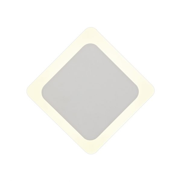 Lichfield Lighting Maxwell Magnetic Base Wall Lamp, 12W LED 3000K 498lm, 15/19cm Diamond Centre, Sand White/Acrylic Frosted Diffuser photo 3