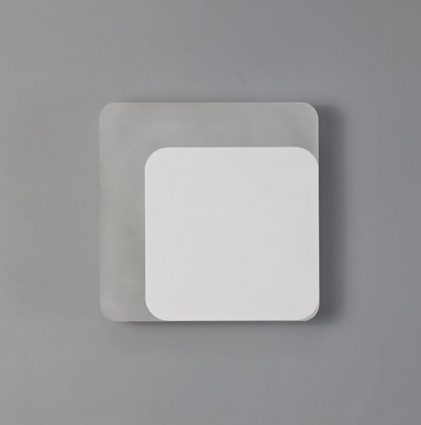 Lichfield Lighting Maxwell Magnetic Base Wall Lamp, 12W LED 3000K 498lm, 15/19cm Square Right Offset, Sand White/Acrylic Frosted Diffuser photo 2
