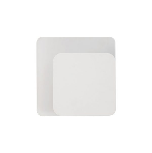 Lichfield Lighting Maxwell Magnetic Base Wall Lamp, 12W LED 3000K 498lm, 15/19cm Square Right Offset, Sand White/Acrylic Frosted Diffuser photo 3