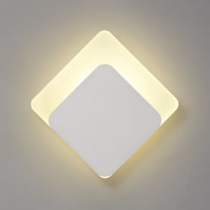Lichfield Lighting Maxwell Magnetic Base Wall Lamp, 12W LED 3000K 498lm, 15/19cm Diamond Bottom Offset, Sand White/Acrylic Frosted Diffuser photo 1