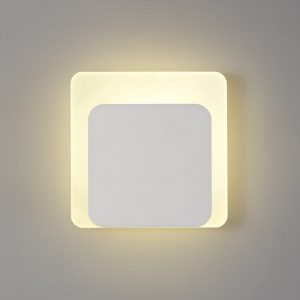 Lichfield Lighting Maxwell Magnetic Base Wall Lamp, 12W LED 3000K 498lm, 15/19cm Square Bottom Offset, Sand White/Acrylic Frosted Diffuser photo 1