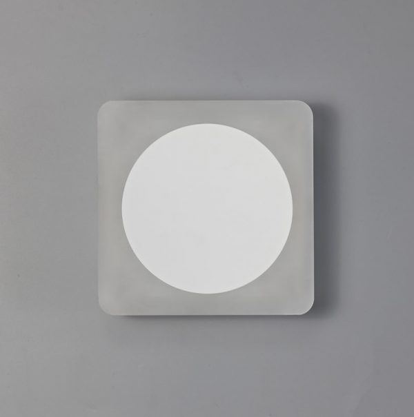 Lichfield Lighting Maxwell Magnetic Base Wall Lamp, 12W LED 3000K 498lm, 15cm Round 19cm Square Centre, Sand White/Acrylic Frosted Diffuser photo 2