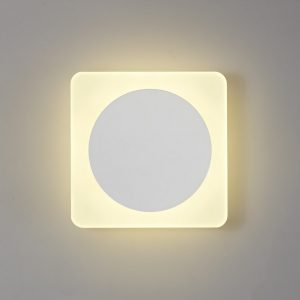 Lichfield Lighting Maxwell Magnetic Base Wall Lamp, 12W LED 3000K 498lm, 15cm Round 19cm Square Centre, Sand White/Acrylic Frosted Diffuser photo 1