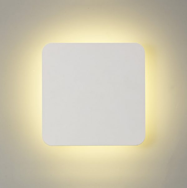 Lichfield Lighting Maxwell Magnetic Base Wall Lamp, 12W LED 3000K 498lm, 20/19cm Square Centre, Sand White/Acrylic Frosted Diffuser photo 2