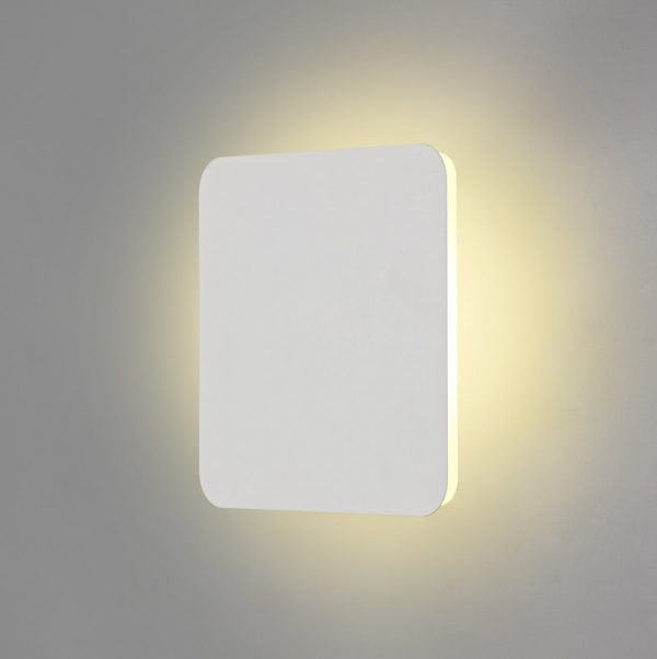 Lichfield Lighting Maxwell Magnetic Base Wall Lamp, 12W LED 3000K 498lm, 20/19cm Square Centre, Sand White/Acrylic Frosted Diffuser photo 1