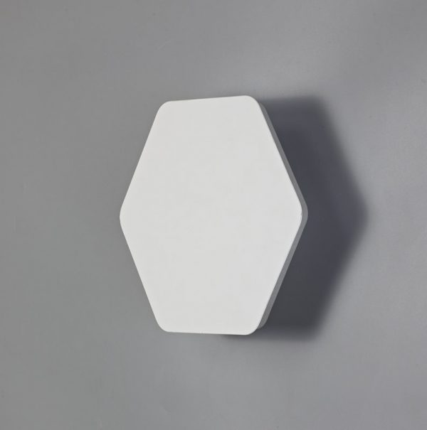 Lichfield Lighting Maxwell Magnetic Base Wall Lamp, 12W LED 3000K 498lm, 20/19cm Horizontal Hexagonal Centre, Sand White/Acrylic Frosted Diffuser photo 2