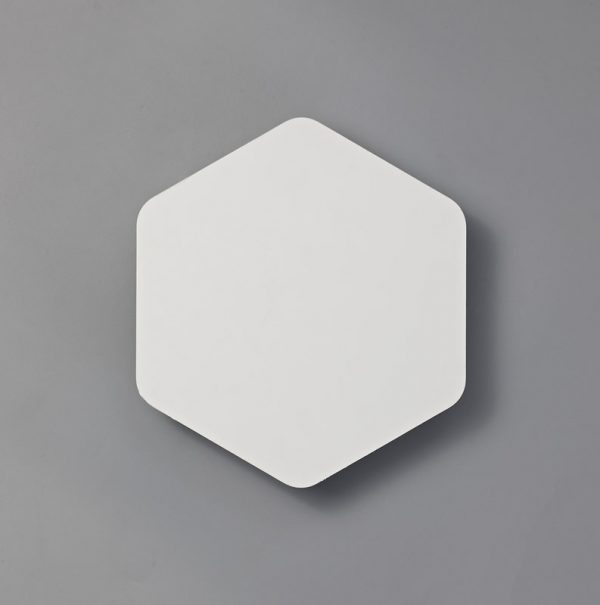 Lichfield Lighting Maxwell Magnetic Base Wall Lamp, 12W LED 3000K 498lm, 20/19cm Vertical Hexagonal Centre, Sand White/Acrylic Frosted Diffuser photo 2