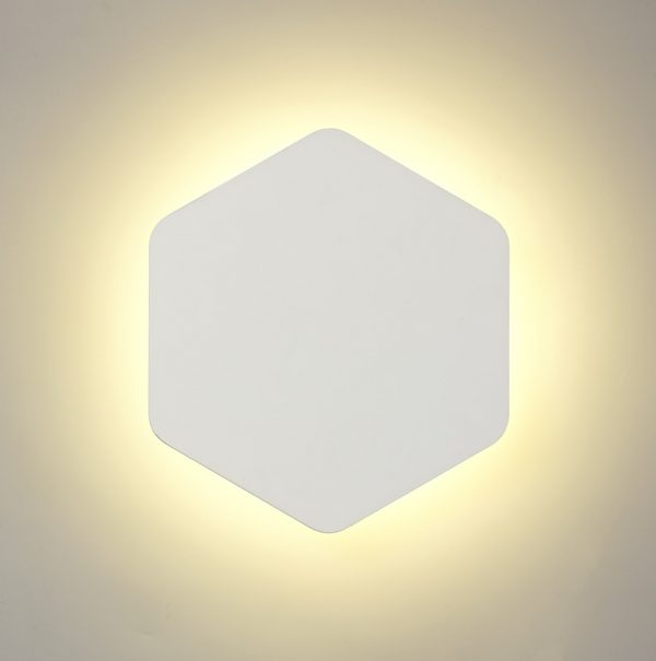 Lichfield Lighting Maxwell Magnetic Base Wall Lamp, 12W LED 3000K 498lm, 20/19cm Vertical Hexagonal Centre, Sand White/Acrylic Frosted Diffuser photo 1