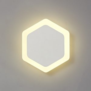 Lichfield Lighting Maxwell Magnetic Base Wall Lamp, 12W LED 3000K 498lm, 15/19cm Vertical Hexagonal Centre, Sand White/Acrylic Frosted Diffuser photo 1