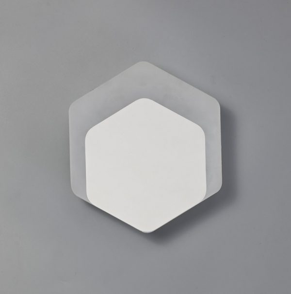 Lichfield Lighting Maxwell Magnetic Base Wall Lamp, 12W LED 3000K 498lm, 15/19cm Vertical Hexagonal Bottom Offset, Sand White/Acrylic Frosted Diffuser photo 2