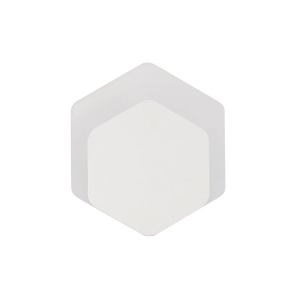 Lichfield Lighting Maxwell Magnetic Base Wall Lamp, 12W LED 3000K 498lm, 15/19cm Vertical Hexagonal Bottom Offset, Sand White/Acrylic Frosted Diffuser photo 3