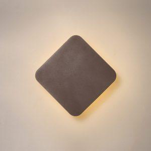 Lichfield Lighting Maxwell Magnetic Base Wall Lamp, 12W LED 3000K 498lm, 15cm Diamond, Coffee photo 1