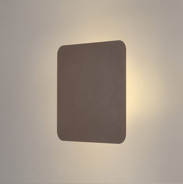 Lichfield Lighting Maxwell Magnetic Base Wall Lamp, 12W LED 3000K 498lm, 20cm Square, Coffee photo 1