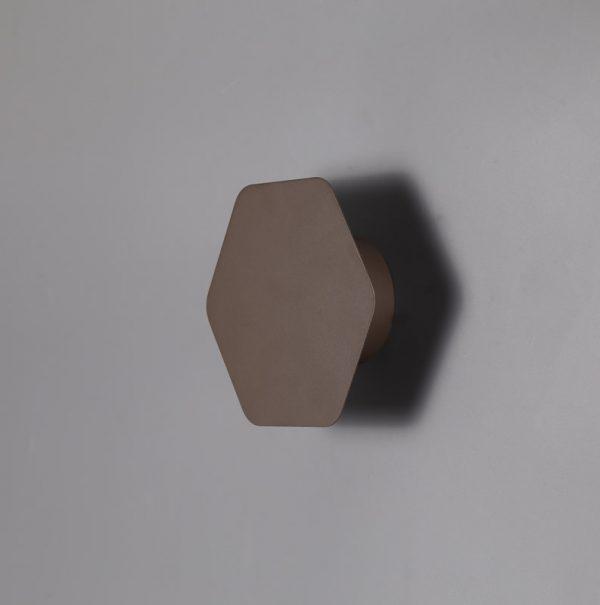 Lichfield Lighting Maxwell Magnetic Base Wall Lamp, 12W LED 3000K 498lm, 15cm Horizontal Hexagonal, Coffee photo 2