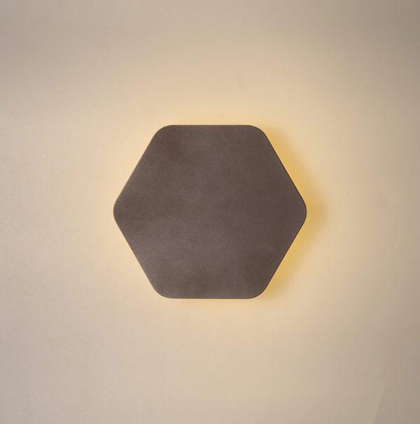 Lichfield Lighting Maxwell Magnetic Base Wall Lamp, 12W LED 3000K 498lm, 15cm Horizontal Hexagonal, Coffee photo 3