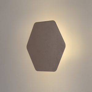 Lichfield Lighting Maxwell Magnetic Base Wall Lamp, 12W LED 3000K 498lm, 20cm Horizontal Hexagonal, Coffee photo 1