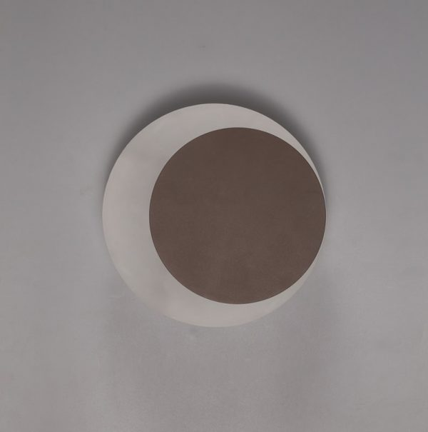 Lichfield Lighting Maxwell Magnetic Base Wall Lamp, 12W LED 3000K 498lm, 15/19cm Round Right Offset, Coffee/Acrylic Frosted Diffuser photo 2