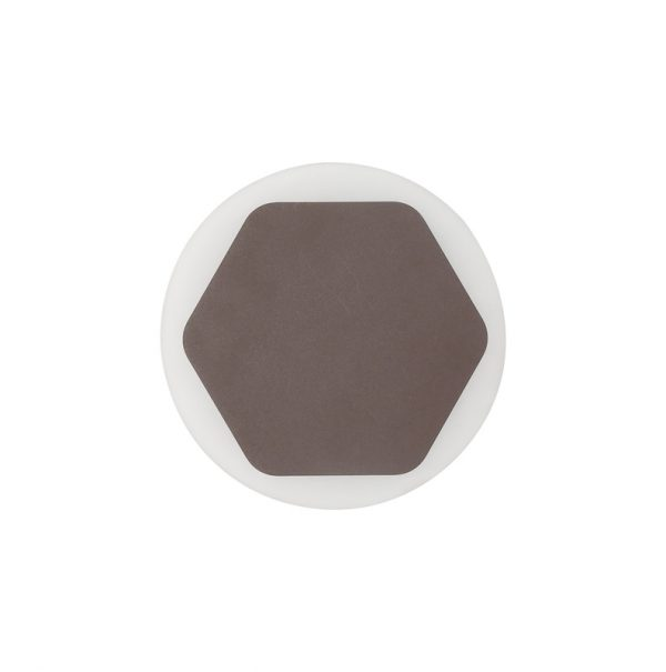 Lichfield Lighting Maxwell Magnetic Base Wall Lamp, 12W LED 3000K 498lm, 15cm Horizontal Hexagonal 19cm Round Centre, Coffee/Acrylic Frosted Diffuser photo 3
