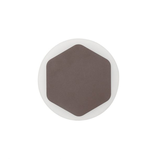 Lichfield Lighting Maxwell Magnetic Base Wall Lamp, 12W LED 3000K 498lm, 15cm Vertical Hexagonal 19cm Round Centre, Coffee/Acrylic Frosted Diffuser photo 3