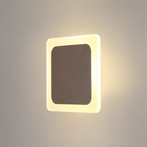 Lichfield Lighting Maxwell Magnetic Base Wall Lamp, 12W LED 3000K 498lm, 15/19cm Square Centre, Coffee/Acrylic Frosted Diffuser photo 1