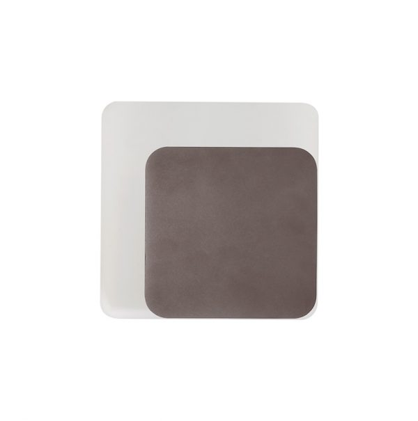 Lichfield Lighting Maxwell Magnetic Base Wall Lamp, 12W LED 3000K 498lm, 15/19cm Square Right Offset, Coffee/Acrylic Frosted Diffuser photo 3