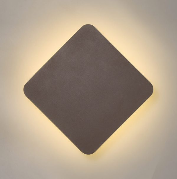 Lichfield Lighting Maxwell Magnetic Base Wall Lamp, 12W LED 3000K 498lm, 20/19cm Diamond Centre, Coffee/Acrylic Frosted Diffuser photo 1