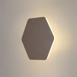 Lichfield Lighting Maxwell Magnetic Base Wall Lamp, 12W LED 3000K 498lm, 20/19cm Horizontal Hexagonal Centre, Coffee/Acrylic Frosted Diffuser photo 1