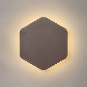 Lichfield Lighting Maxwell Magnetic Base Wall Lamp, 12W LED 3000K 498lm, 20/19cm Vertical Hexagonal Centre, Coffee/Acrylic Frosted Diffuser photo 1