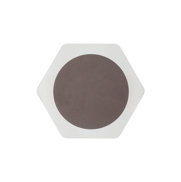 Lichfield Lighting Maxwell Magnetic Base Wall Lamp, 12W LED 3000K 498lm, 15cm Round 19cm Horizontal Hexagonal Centre, Coffee/Acrylic Frosted Diffuser photo 3