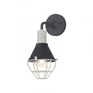 Lichfield Lighting Oakley Wall Lamp, 1 Light E27, IP65, Anthracite/Matt White, 2yrs Warranty photo 1