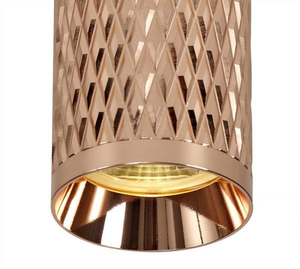 Lichfield Lighting Sandfield 11cm Surface Mounted Ceiling Light, 1 x GU10, Rose Gold photo 2