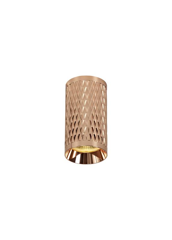 Lichfield Lighting Sandfield 11cm Surface Mounted Ceiling Light, 1 x GU10, Rose Gold photo 1