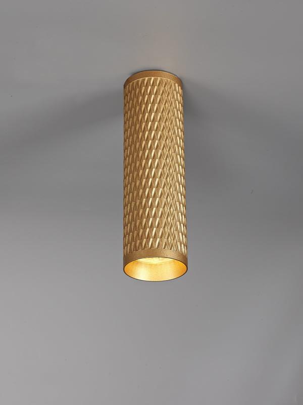 Lichfield Lighting Sandfield 20cm Surface Mounted Ceiling Light, 1 x GU10, Champagne Gold photo 4
