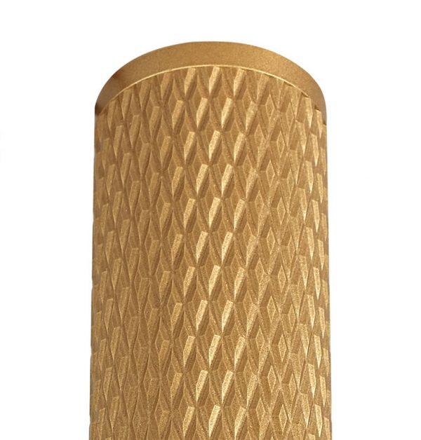 Lichfield Lighting Sandfield 30cm Surface Mounted Ceiling Light, 1 x GU10, Champagne Gold photo 3