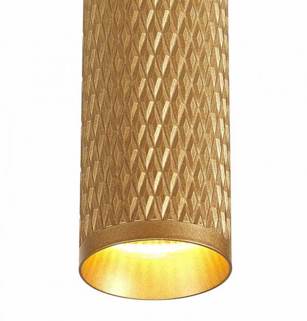 Lichfield Lighting Sandfield 30cm Surface Mounted Ceiling Light, 1 x GU10, Champagne Gold photo 2