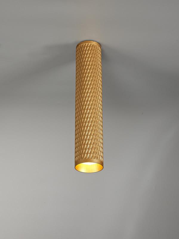 Lichfield Lighting Sandfield 30cm Surface Mounted Ceiling Light, 1 x GU10, Champagne Gold photo 4