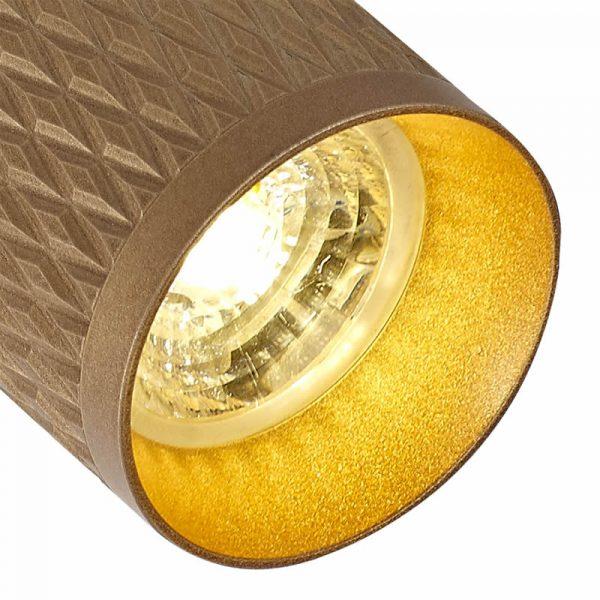 Lichfield Lighting Sandfield Track Spot Light, 1 x GU10, Champagne Gold photo 2