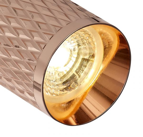 Lichfield Lighting Sandfield Track Spot Light, 1 x GU10, Rose Gold photo 2