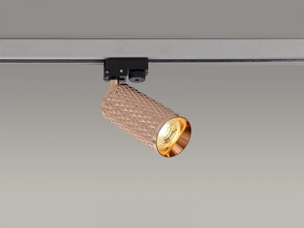 Lichfield Lighting Sandfield Track Spot Light, 1 x GU10, Rose Gold photo 4
