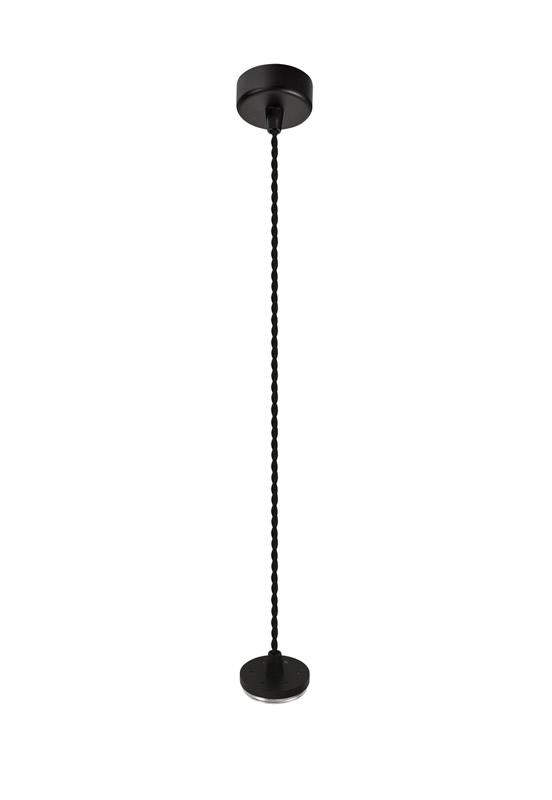 Lichfield Lighting Sandfield Pendant Light Kit 2M, 1 x GU10, Sand Black photo 1