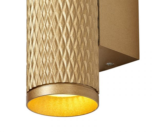 Lichfield Lighting Sandfield Wall Lamp, 2 x GU10, Champagne Gold photo 3