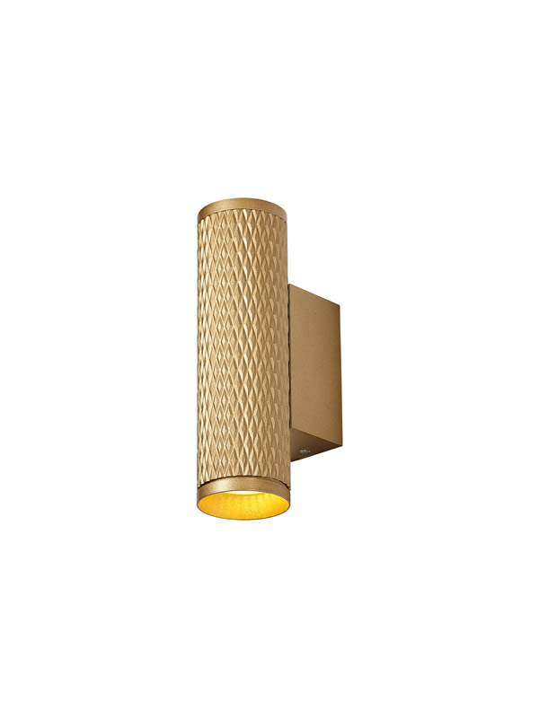 Lichfield Lighting Sandfield Wall Lamp, 2 x GU10, Champagne Gold photo 1