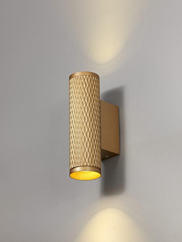 Lichfield Lighting Sandfield Wall Lamp, 2 x GU10, Champagne Gold photo 4