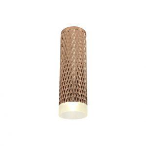 Lichfield Lighting Sandfield 1 Light 20cm Surface Mounted Ceiling GU10, Rose Gold/Acrylic Ring photo 1