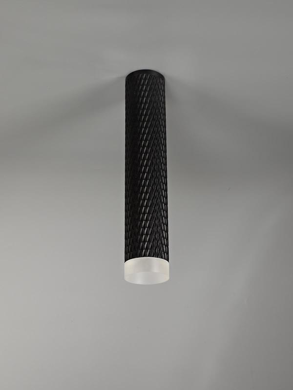 Lichfield Lighting Sandfield 1 Light 30cm Surface Mounted Ceiling GU10, Sand Black/Acrylic Ring photo 3