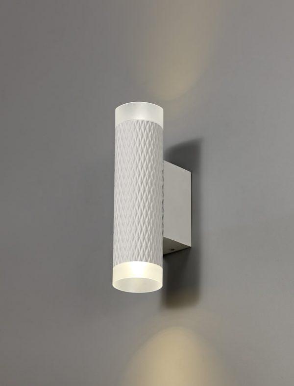 Lichfield Lighting Sandfield 2 Light Wall Lamp GU10, Sand White/Acrylic Rings photo 3