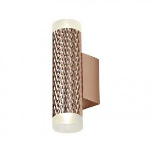 Lichfield Lighting Sandfield 2 Light Wall Lamp GU10, Rose Gold/Acrylic Rings photo 1