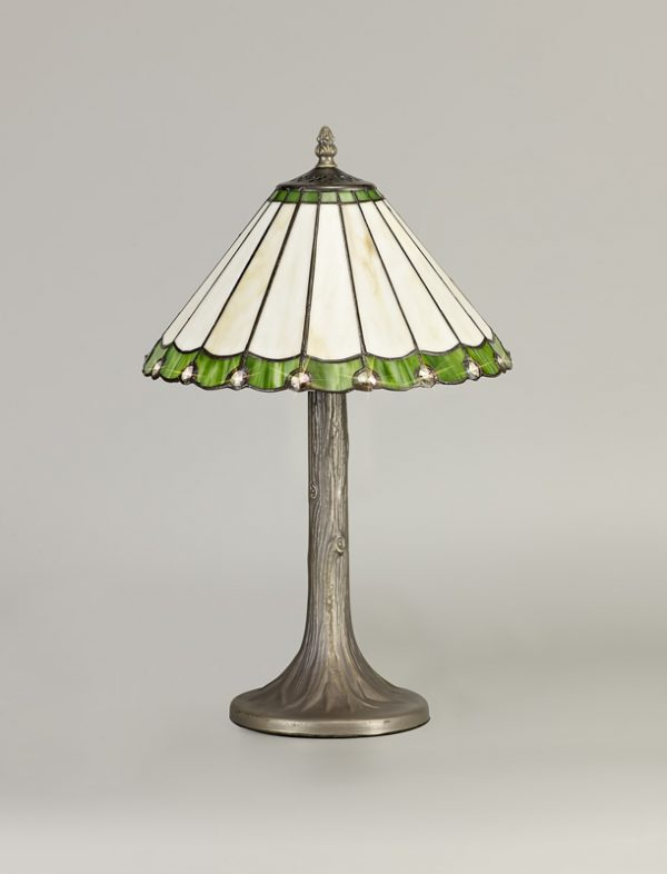 Lichfield Lighting St John 1 Light Tree Like Table Lamp E27 With 30cm Tiffany Shade, Green/Credlock/Crystal/Aged Antique Brass photo 3